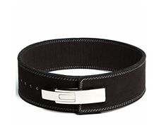 Lever Buckle Powerlifting Belt 10mm Weight Lifting Black Small -- Click image to review more details.