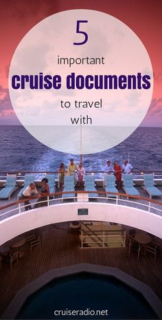 5 Important Cruise Documents to Travel With   Contact me to help as I have you covered on these topics. Ready to book that trip? Email me at Deb@VacationsByDeb.com or call me at 877-331-5078.