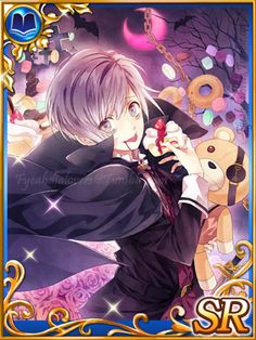 """fyeahdialovers: """"  New Diabolik Lovers Super Rare Cards from Sephirot In-game Screenshots Taken by Me. Please don't repost to other sites, linking (through text) is fine. """""""