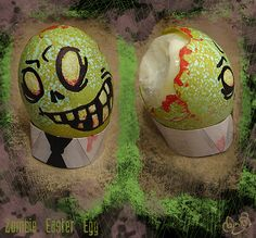 Zombie Easter Eggs, love this idea for a Halloween party Angry Birds, Holiday Crafts, Holiday Fun, Holiday Ideas, Easter Arts And Crafts, Easter Egg Designs, Easter Ideas, Zombie Party, Zombie Zombie