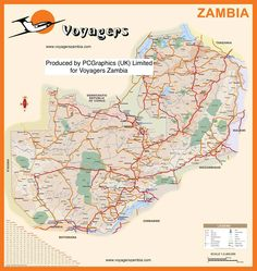 Map of Zambia produced by PCGraphics for Voyagers Zambia. See more of our maps on our website  http://www.pcgraphics.uk.com  or read our blog  http://www.pcgraphics.uk.com/blog/