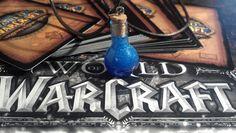 Mana pot glass corked blue resin filled bottle bottle. $7.00, via Etsy.