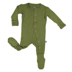 Basic Footies with Paws in Moss