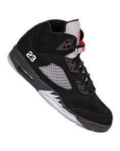 05ee0760f643 Jordan Shoes Retro 5 Black Silver Nike Mens NIKE AIR JORDAN V 5 RETRO  BASKETBALL SHOES