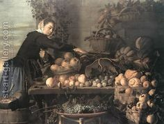 Fruit and Vegetable Seller 1630 by Claes Van Heussen
