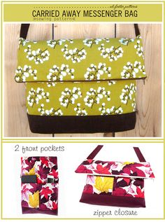 Carried Away Fold Over Messenger Bag Sewing Pattern