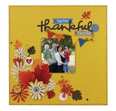 Crafts Direct Project Idea: Thankful 12x12 Frame