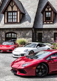Lamborghini Aventador and Porsche 911 GT3