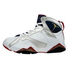 "more photos dd98a a3bb9 Air Jordan 7 ""Olympic"" Release Date ( 20,000) ❤ liked on Polyvore featuring"