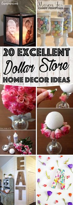 You won't believe, but these 20 DIY dollar store home decor ideas are simply fantastic. Make your inexpensive items and see how people will line up at your doors to just take a sneak-peak of your DIY ideas.