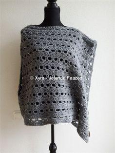 #Omslagdoek#sjaal #haakpatroon #patroon#haken #gehaakt#crochet #pattern#scarf#shawl #poncho#DIY #asymmetrisch Het patroon (NL) is beschikbaar via: The pattern (English-US) is available at: www.xyracreaties.nl www.ravelry.com/stores/xyra-creaties www.etsy.com/shop/XyraCreaties