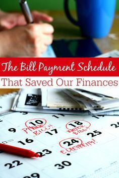 Finances in trouble? This bill payment schedule saved ours! You'll learn why I use this schedule and how I pay my bills so that our budget doesn't slip off track!