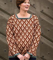 Norrsunda Treblad Sweater by Anna-Karin Lundberg from Medieval-Inspired Knits