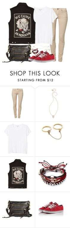 """""""I don't sleep at night and I don't know what to think about the life I've made for myself. Or have I created my own hell?"""" by rocketsheep ❤ liked on Polyvore featuring Replay, Ginette NY, Monki, Rebecca Minkoff, Glamour Kills, Pura Vida, Vans, vans, lyrics and WeCameAsRomans"""
