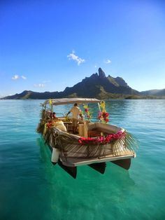 Bora Bora, French Polynesia:  Random pinner said: You MUST go. My husband and I went in September 2013 and it was even more spectacular than photos can show.