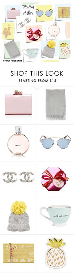 """#PolyPresents: Stocking Stuffers"" by natershh ❤ liked on Polyvore featuring beauty, Post-It, Ted Baker, Acne Studios, Chanel, Christian Dior, Topshop, Slant, contestentry and polyPresents"
