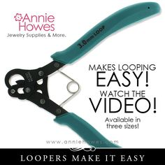 Watch this video to see how easy it is to make perfect wire loops for your beading projects!