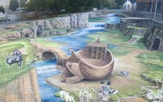 Largest 3D Street Painting in the World - StreetArt Festival Wilhelmshaven/Germany [Photo]