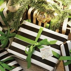 Easy and Creative DIY Gift Wrap Ideas - Wallpaper and Satin Ribbon - Click Pic for 25 Gift Wrapping Ideas for Christmas