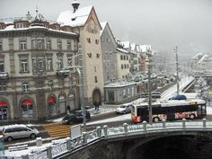 Chur, Switzerland in the snow  one of my favorite places in the world  can't wait to get back there, maybe september