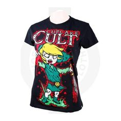 Cupcake Cult Legend Of Zombie T (£28) ❤ liked on Polyvore featuring tops