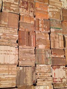 Artist: JC Smith - recycled book bindings closeup