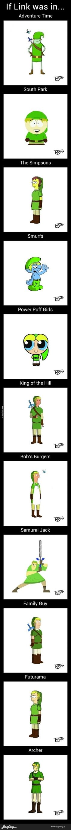 Link in other cartoons