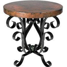 Genial The Iron Scroll Accent Table With Hammered Copper Top From Prima Is  Amazing! Copper Top