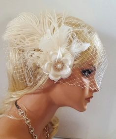 Check out this item in my Etsy shop https://www.etsy.com/listing/251475466/accessoriesfascinator-wedding-hair-clip