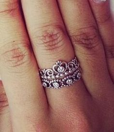 Her majesty & my princess rings from pandora. Obsessed w/ this combo