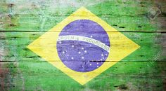 Flag Of Brazil Painted On Grungy Wood Plank Background Stock Photo, Picture And Royalty Free Image. Image 15617809.