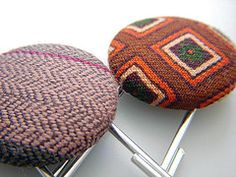 recycled neck-tie paperclip bookmarks