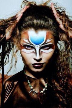 Tribal Warrior Face Paint Women