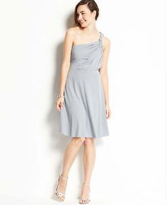 dfd3b860f14 Ann Taylor has a bunch of wedding bridesmaids stuff  Jersey One Shoulder Bridesmaid  Dress