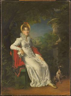 Caroline Ferdinanda Luise of Naples and Sicily by François Gérard, 1820-37 (ca early 1820's) France, Rijksmuseum Amsterdam