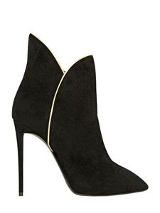 Giuseppe Zanotti boot suede ankle boots black and white LUISAVIAROMA - LUXURY SHOPPING WORLDWIDE SHIPPING - FLORENCE