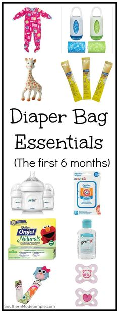 Whats in My Diaper Bag? {Diaper Bag Essentials for the First 6 Months - Diaper Bags - Ideas of Diaper Bags - A complete packing list of essentials you'll definitely want with you in your diaper bag during baby's first 6 months! Diaper Bag Essentials, Newborn Essentials, Teething Pain Relief, Nappy Backpack, One Month Baby, Preparing For Baby, Baby Care, Make It Simple, New Baby Products