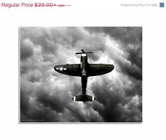 LABOR DAY SALE Boys nursery ideas, airplane pictures, nursery decor Vintage Wwii Prop Plane Green Vertical Fighter, One Photo Print