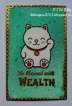 KT Fit Kitty: Lucky Cat Wallet Card for Wealth