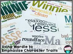Using Wordle to emphasize character traits in a novel.