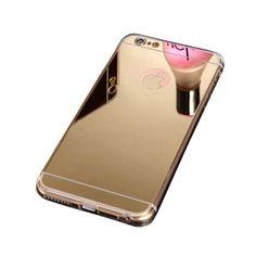 【Hot】Cool Coque Housse etui pour iphone6 6s en Luxe cristal clair bumper transparent silicone tpu etui effet or miroir cover cristal clear Chaude iphone6/6s Case Doré - Or (#  Or, IPHONE6/6S)