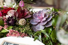 succulent wedding decor - photo by Ryan Welch Photography http://ruffledblog.com/welsh-floral-wedding-inspiration