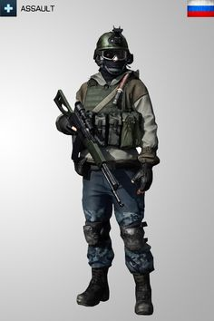 Battlefield 3 Assault RUS Soldier Iphone Wallpape by Kikkah070