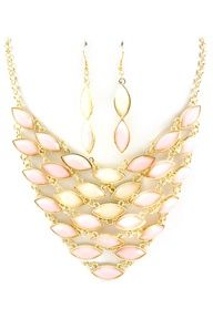 Aspen Watercolor Marquise Necklace