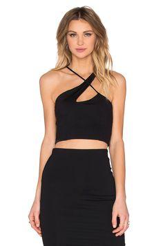 344baa0b54fe3 Shop for Donna Mizani X Front Crop Top in Black at REVOLVE.