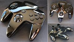 """An N64 Controller That's Too Pretty To Use - """"Finger Print Magnet64 by Zoki64"""