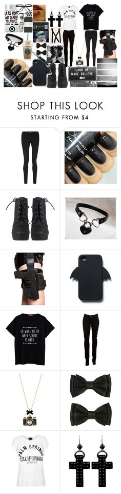 """""""I work as an Assasin. I don't have Friends."""" by dreaming-of-nightmares ❤ liked on Polyvore featuring Frame, Holster, Zara, J Brand, Betsey Johnson, Hot Topic, Topshop, TOUS and Tarina Tarantino"""
