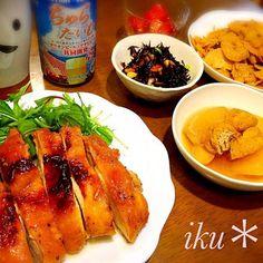鶏ももを一人一枚ど〜んとグリルしました♡ ☆鶏の山賊焼き ☆大根と揚げの煮物 ☆ひじきの煮物 ☆筍のきんぴら ☆トマトのはちみつマリネ - 74件のもぐもぐ - 晩ごはん♡ by ichinana