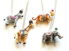 plastic animal necklaces