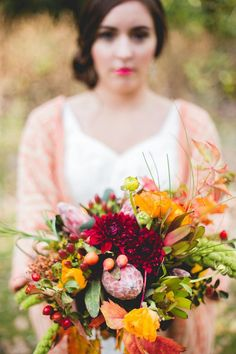 Autumnal bouquet | Photo by Blackbird Photography and Design | Floral design by Petal Perfect